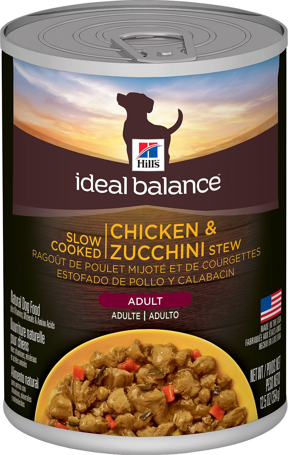 Ideal Balance Dog Food >> Hill S Ideal Balance Slow Cooked Chicken Zucchini Stew Canned Dog Food 12 5 Oz Case Of 12