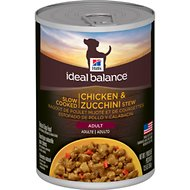 Hill's Ideal Balance Slow-Cooked Chicken & Zucchini Stew Canned Dog Food, 12.5-oz, case of 12