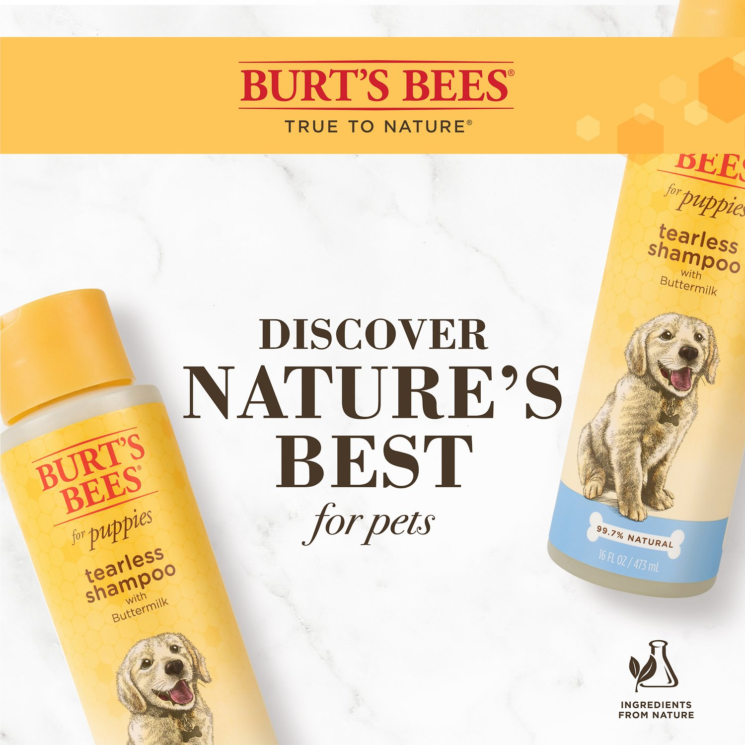 Burt S Bees Tearless Puppy Shampoo With Buttermilk For