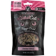 Vital Essentials Chicken Giblets Freeze-Dried Cat Treats, 1-oz bag