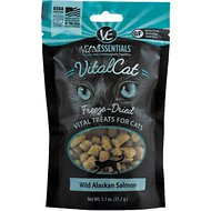 Vital Essentials Wild Alaskan Salmon Freeze-Dried Cat Treats, 1.1-oz bag