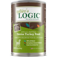 Nature's Logic Canine Turkey Feast All Life Stages Grain-Free Canned Dog Food, 13.2 oz, case of 12