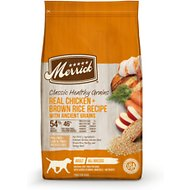 Merrick Classic Healthy Grains Chicken + Brown Rice Recipe with Ancient Grains Adult Dry Dog Food, 12-lb bag