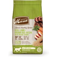 Merrick Classic Healthy Grains Dry Dog Food Real Lamb + Brown Rice Recipe with Ancient Grains, 25-lb bag