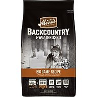 Merrick Backcountry Raw Infused Big Game Recipe with Lamb, Buffalo & Venison Grain-Free Dry Dog Food, 4-lb bag