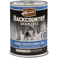 Merrick Backcountry Grain-Free Chunky Chicken Dinner in Gravy Canned Dog Food, 12.7-oz, case of 12