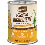Merrick Limited Ingredient Diet Grain-Free Real Chicken Stew Canned Dog Food, 12.7-oz, case of 12
