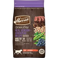 Merrick Grain-Free Real Venison + Chickpeas Recipe Dry Dog Food, 22-lb bag