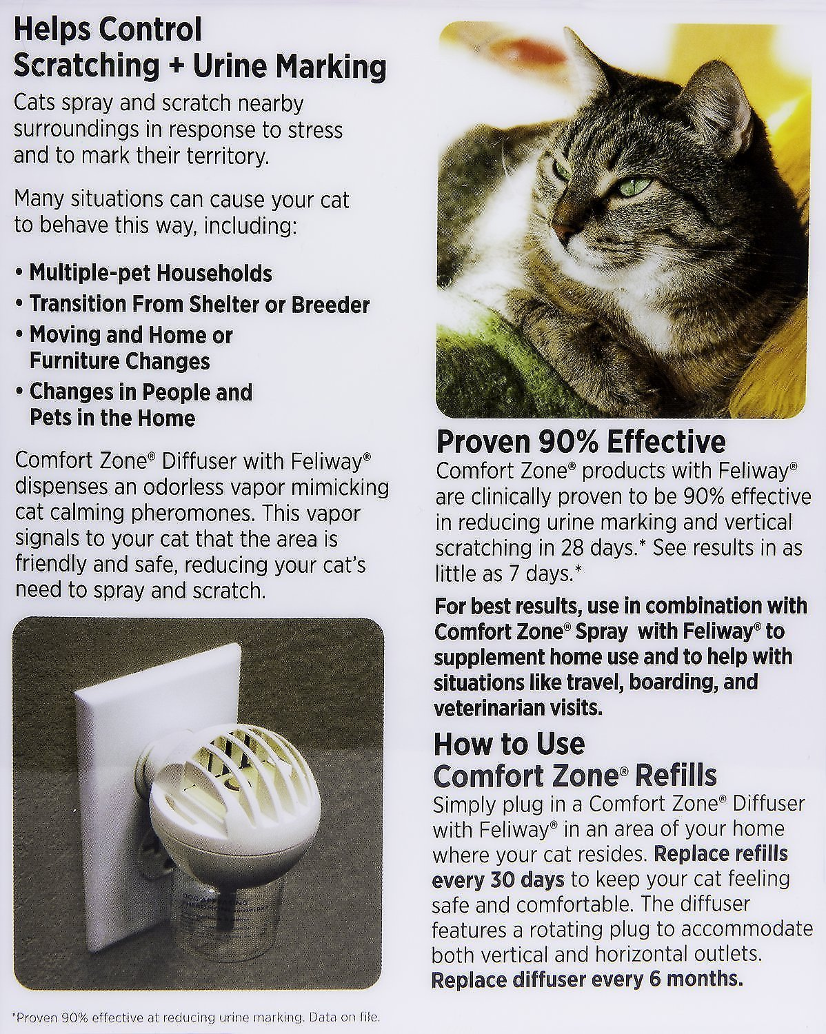 diffuser in pack comforter zone with spray comfort new refills feliway refill farnam plug