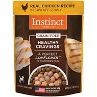 Instinct by Nature's Variety Healthy Cravings Grain-Free Real Chicken Recipe Wet Dog Food Topper, 3-oz pouch, case of 24