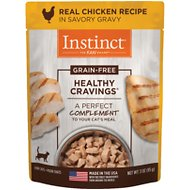 Instinct by Nature's Variety Healthy Cravings Grain-Free Real Chicken Recipe Wet Cat Food Topper, 3-oz pouch, case of 24