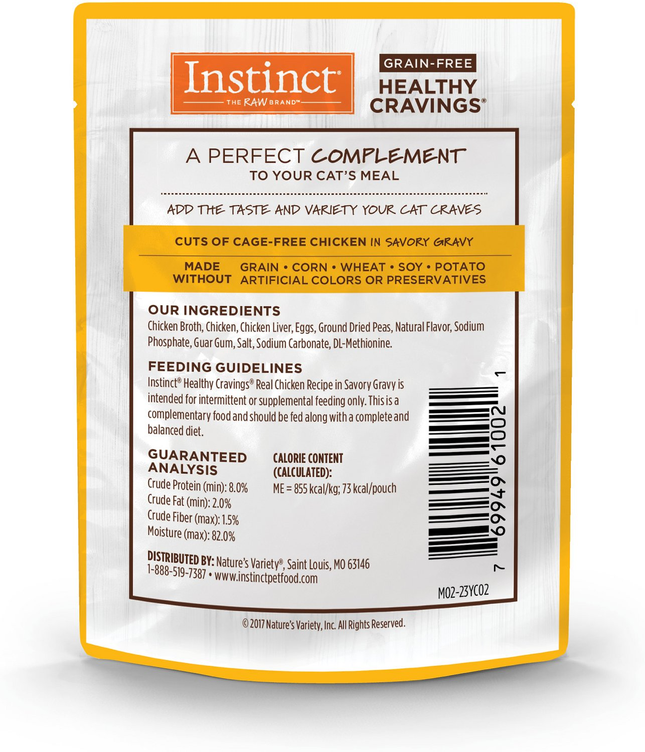 Instinct by Nature's Variety Healthy Cravings Grain-Free Real Chicken Recipe Wet Cat Food Topper ...
