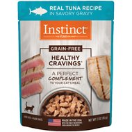 Nature's Variety Instinct Healthy Cravings Grain-Free Tender Tuna Recipe in Savory Gravy Cat Food Topper, 3-oz, case of 24