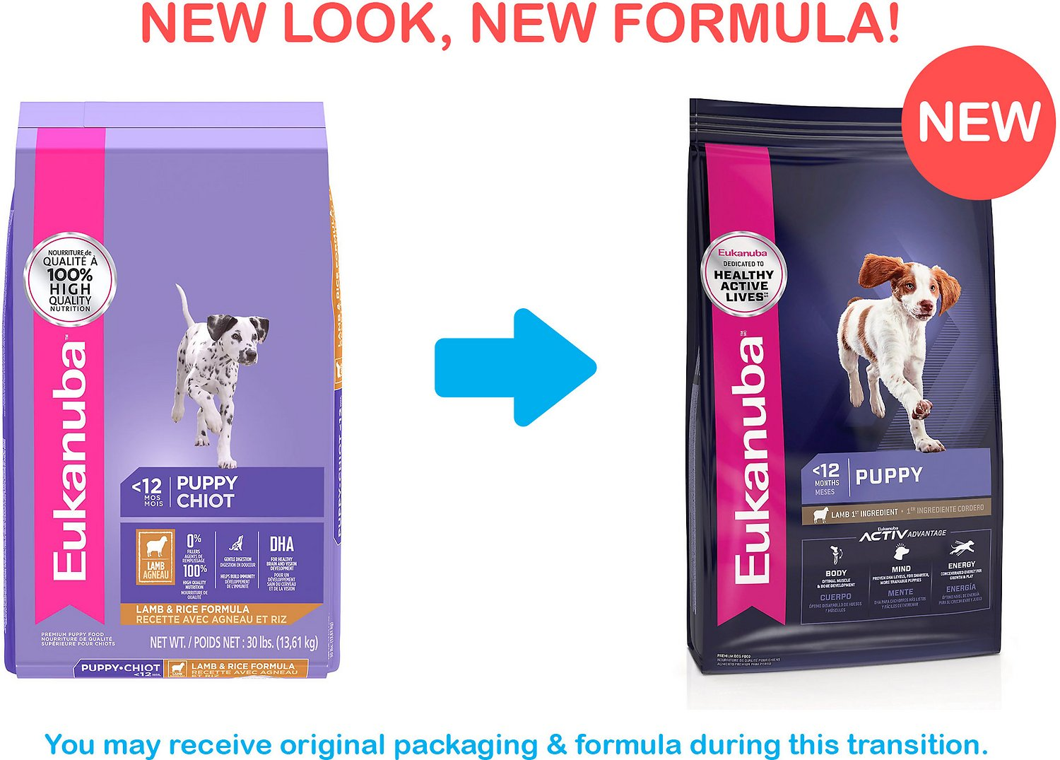 Eukanuba Puppy Lamb Rice Formula Dry Dog Food 30 Lb Bag Chewy Com