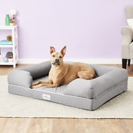 PetFusion Ultimate Lounge with Solid Memory Foam Dog & Cat Bed, Gray, X-Large