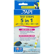 API 5 in 1 Freshwater & Saltwater Aquarium Test Strips, 25 count