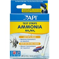 API Ammonia NH3/NH4 Freshwater & Saltwater Aquarium Test Strips, 25 count