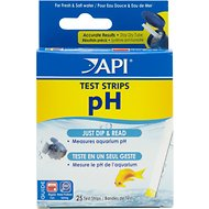 API pH Freshwater & Saltwater Aquarium Test Strips, 25 count