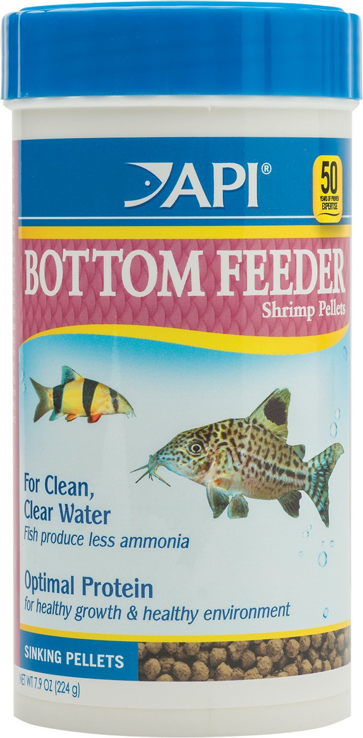 Api sinking shrimp pellets bottom feeder fish food 7 9 oz for Protein in fish