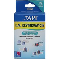API E.M. Erythromycin Freshwater Fish Bacterial Disease Medication, 10 count