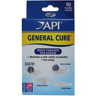 API General Cure Freshwater & Saltwater Aquarium Parasitic Fish Disease Treatment, 10 count