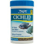 API Large Floating Pellets Cichlid Fish Food, 7.1-oz bottle
