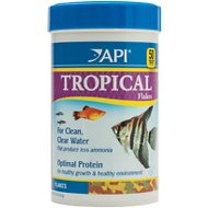 API Optimal Protein Flakes Tropical Fish Food, 5.7-oz bottle