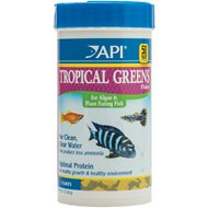 API Tropical Greens Flakes Algae & Plant Eating Fish Food, 2.1-oz bottle