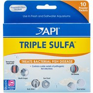 API Triple Sulfa Freshwater Fish Medication, 10 count