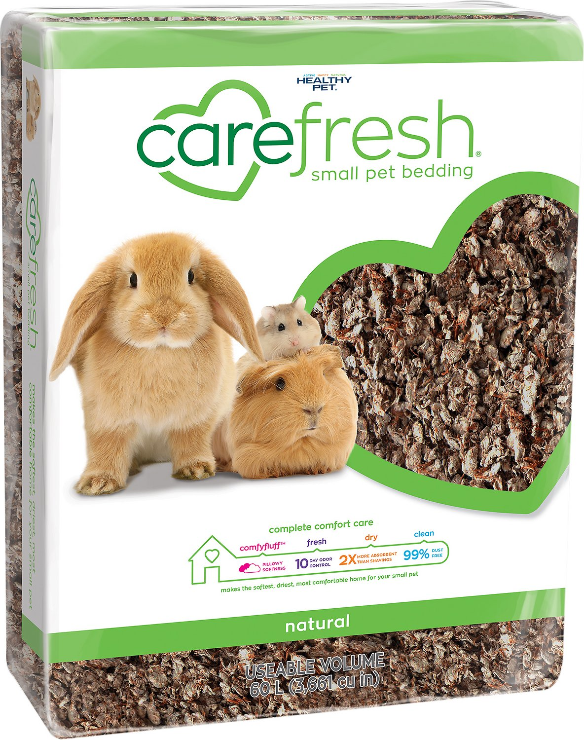 Carefresh Small Animal Bedding, Natural, 60-L