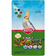 Kaytee Exact Rainbow Cockatiel Bird Food, 3-lb bag