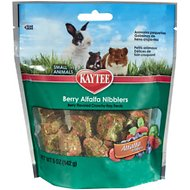 Kaytee Alfalfa Nibblers Berry Small Animal Treats, 5-oz bag