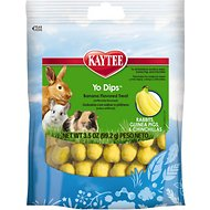 Kaytee Fiesta Banana Flavored Yogurt Dipped Rabbit, Guinea Pig & Chinchilla Treats, 3.5-oz bag