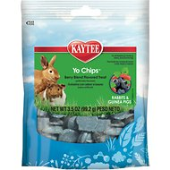 Kaytee Fiesta Berry Blend Flavored Yogurt Chips Rabbit & Guinea Pig Treats, 3.5-oz bag