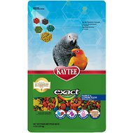 Kaytee Exact Rainbow Parrot & Conure Bird Food, 4-lb bag