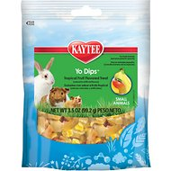 Kaytee Fiesta Blueberry & Banana Flavored Tropical Fruit & Yogurt Small Animal Treats, 3.5-oz bag
