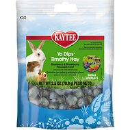 Kaytee Fiesta Blueberry & Strawberry Flavored Yogurt Dipped Timothy Hay Small Animal Treats, 2.5-oz bag