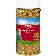 Kaytee Fiesta Fruit & Veggie Parakeet Bird Treats, 9.5-oz jar