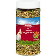 Kaytee Fiesta Garden Veggie Cockatiel Bird Treats, 10-oz jar
