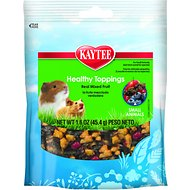 Kaytee Fiesta Healthy Toppings Mixed Fruit Small Animal Treats, 1.6-oz bag