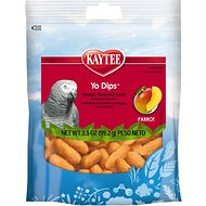 Kaytee Fiesta Mango Flavored Yogurt Dipped Large Hookbill Bird Treats, 3.5-oz bag