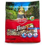 Kaytee Fiesta Variety Mix Cockatiel Bird Food, 4.5-lb bag
