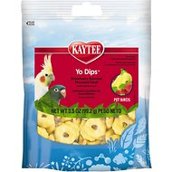 Kaytee Fiesta Strawberry Banana Flavored Yogurt Dipped Small Hookbill Bird Treats, 3.5-oz bag