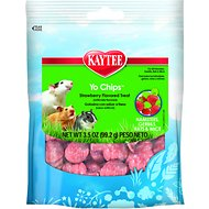 Kaytee Fiesta Strawberry Flavored Yogurt Chips Small Animal Treats, 3.5-oz bag