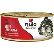 Nulo Freestyle Beef & Lamb Recipe Grain-Free Canned Cat & Kitten Food, 5.5-oz,case of 24