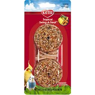 Kaytee Fiesta Tropical Swing-A-Treat Parakeet & Cockatiel Bird Treat, 3.1-oz