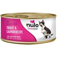 Nulo Freestyle Trout & Salmon Recipe Grain-Free Canned Cat & Kitten Food, 5.5-oz, case of 24