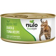 Nulo Freestyle Duck & Tuna Recipe Grain-Free Canned Cat & Kitten Food, 5.5-oz, case of 24