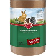 Kaytee Tube 'O Hay Timothy Hay Small Animal Treat, 4-oz tube