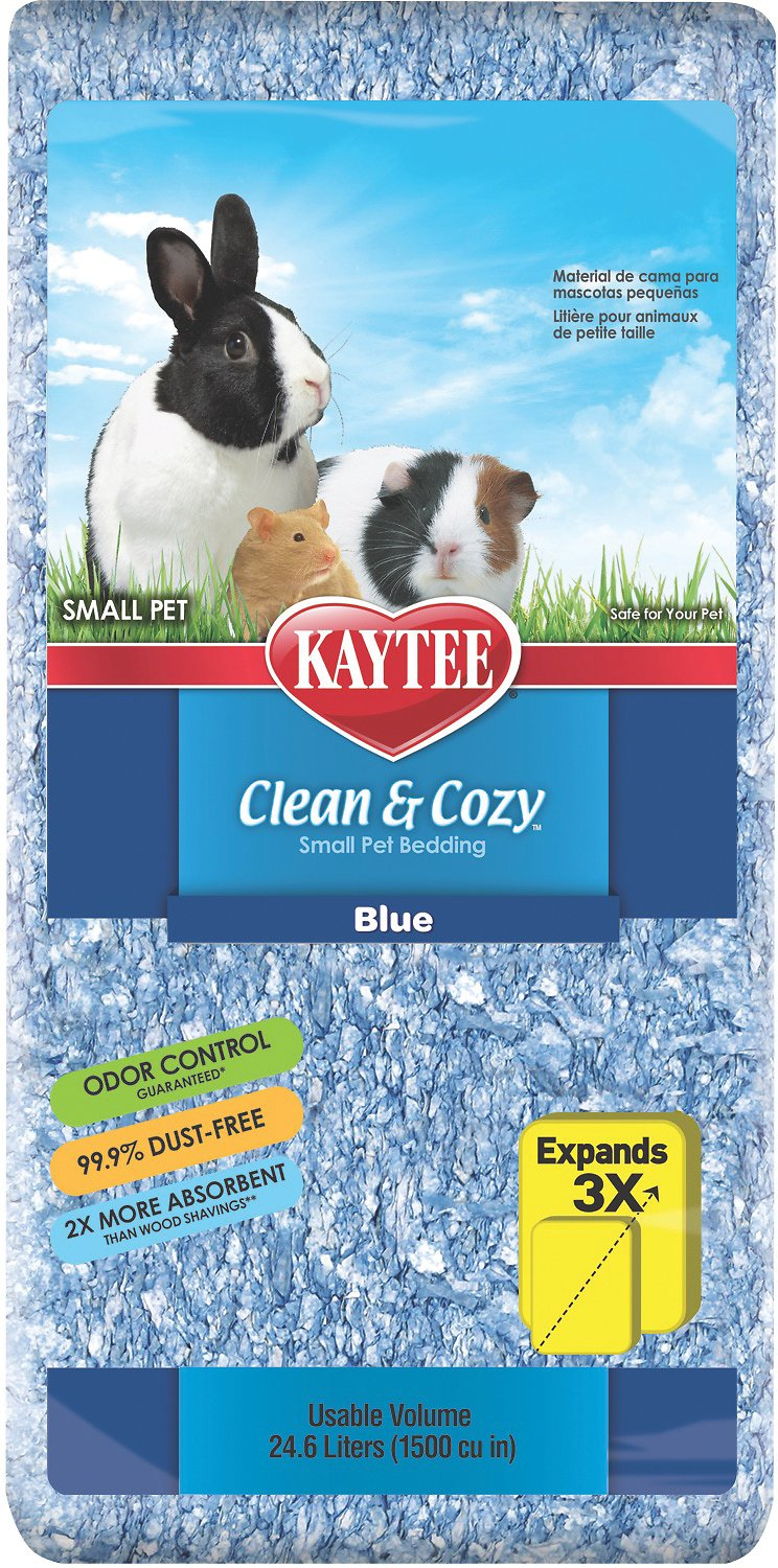 kaytee clean & cozy small animal bedding, blue, 24.6-l - chewy